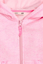 Sweat à capuche zippé - Rose chiné -  | H&M FR 3
